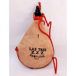 Bota de vino Las Tres ZZZ -recta - 1 litro